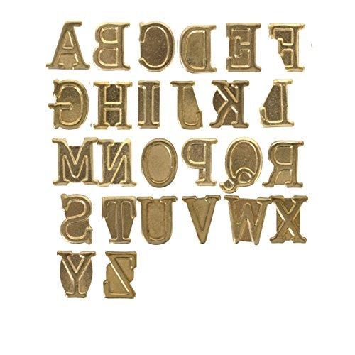 Walnut Hollow Metal Hot Stamps Alphabet Set 26 kg Upper Case by Walnut Hollow