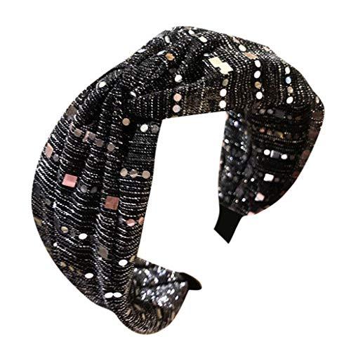 Goddess Dress Paisley - Sietore Women's Headband Fabric Hairband Head Wrap Hair Band Accessories lace headband wide side middle cross knot bow headband 5 Colors (DG)