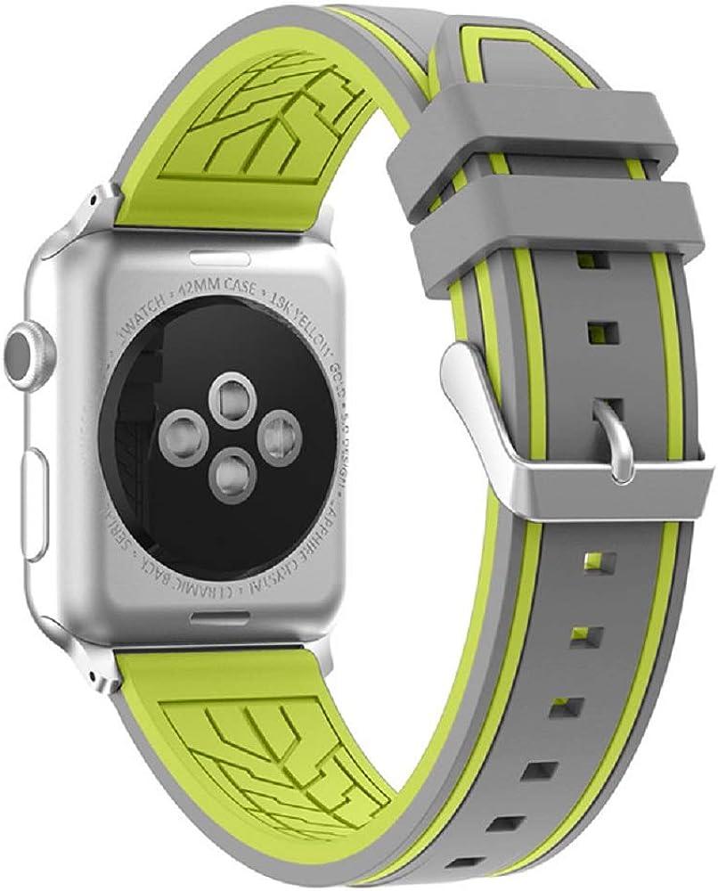 Fmway Repuesto de Correa Reloj de Silicona para Apple Watch Series 4 44mm, Apple Watch Series 3/2/1 42mm, Hombre y Mujer