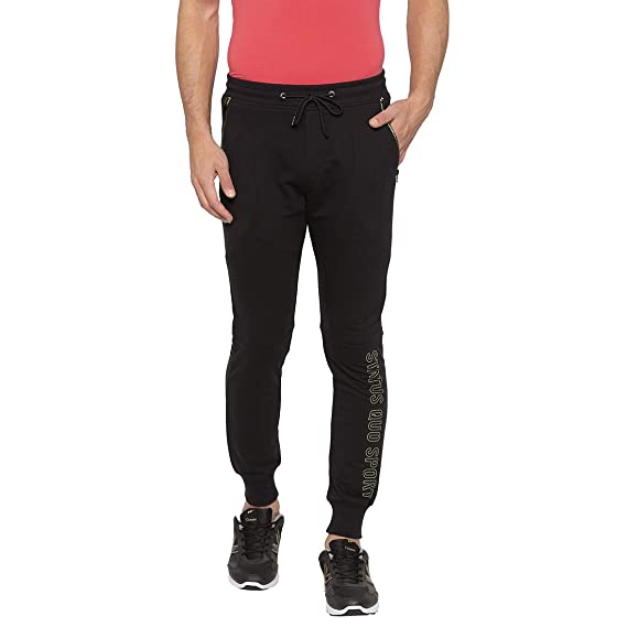 search for clearance enjoy clearance price top quality Status Quo Mens Black Slim Fit Low Rise Joggers (X-Large ...