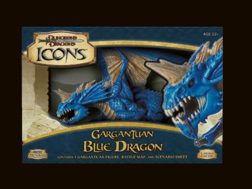 By Author D&D Dungeons and Dragons Trading Miniatures Game Icons Gargantuan Blue Dragon ()