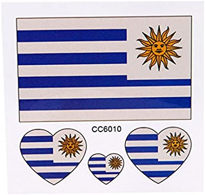 Tatuajes temporales, oyedens Bandera de Uruguay temporales tatuaje ...