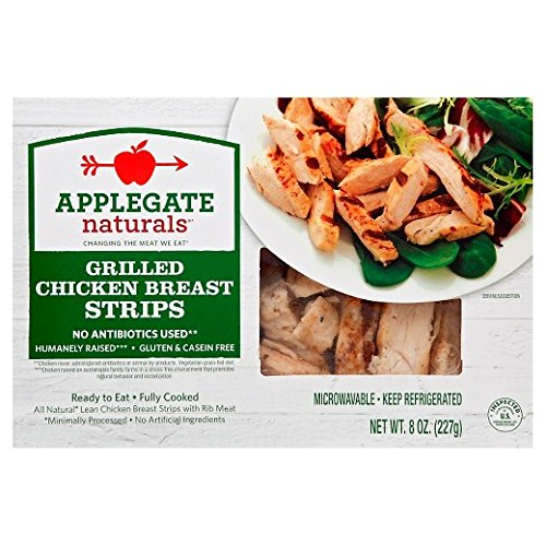 Applegate Naturals Grilled Chicken Breast Strips, 8 Ounce (Pack of 12)
