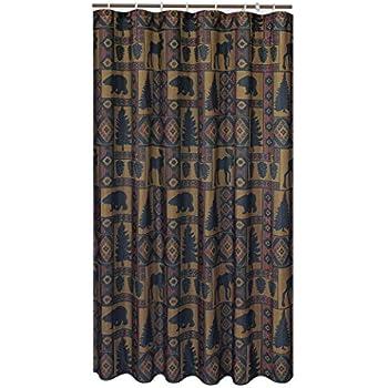 Cabin Pine Lodge Wildlife Shower Curtain