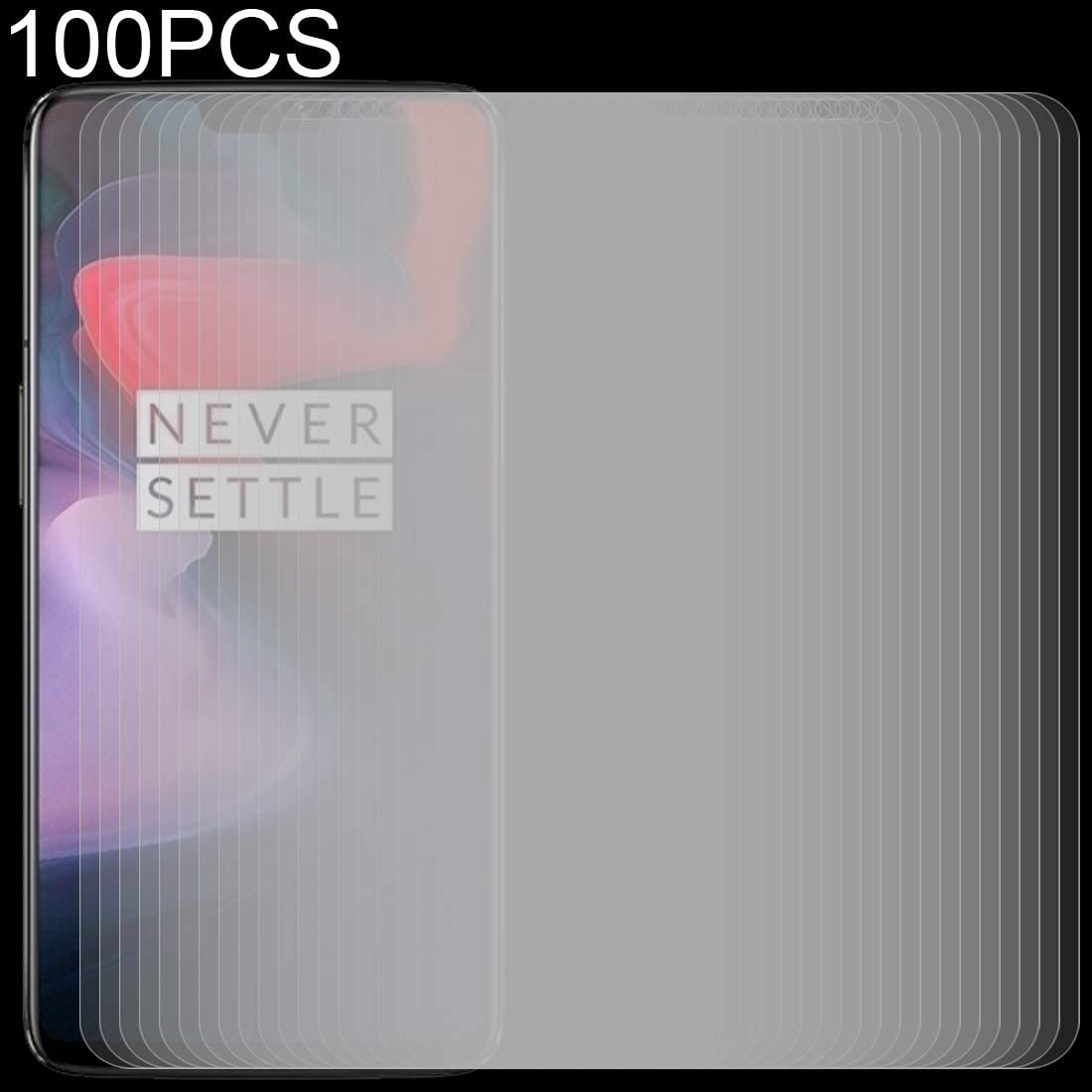 ZYS Screen Protector 100 PCS 0.26mm 9H 2.5D Tempered Glass Film for OnePlus 6