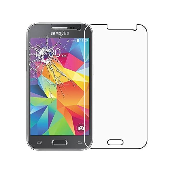 "ebestStar - Funda Compatible con Samsung Galaxy Core Prime SM-G360F, 4G G361F VE Carcasa Cartera Cuero PU, Funda Ranuras Tarjeta Stand, Negro + Cristal Templado [Aparato: 130.8x67.9x8.8mm 4.5""] 5"