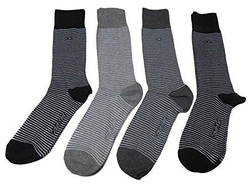 Calvin Klein Mens Socks Black Multi (Pack of 4)