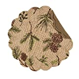 C&F Home Woodland Retreat Pinecone Round Cotton Placemat Set of 4 Round Plaacemat Sets of 4