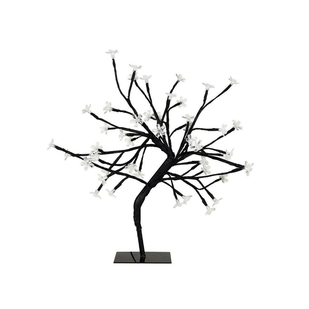 Briskaari Store- LED Cherry Tree Light Black Branches Perfect for Home Festival Party Wedding Christmas Indoor Outdoor Decoration Table Lamp (Color : C)