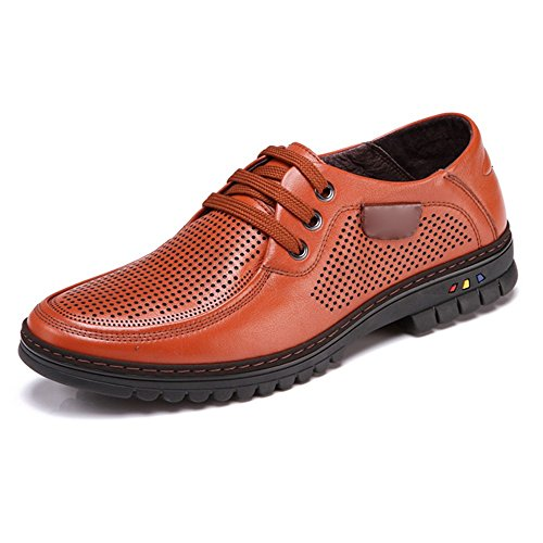 Negocios Calados Vestir Los Respirables Hombres Brown Zapatos Ocasionales De EqxU4