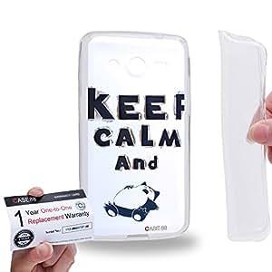 Case88 [Samsung Galaxy Core 2 / II G355H] Gel TPU Carcasa/Funda & Tarjeta de garantía - Art 3D Alphabet Keep Calm And Sleep Pokemon