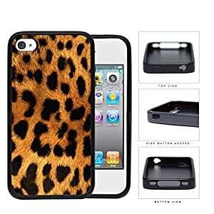 Exotic Leopard Fur Rubber Silicone TPU Cell Phone Case Apple iPhone 4 4s