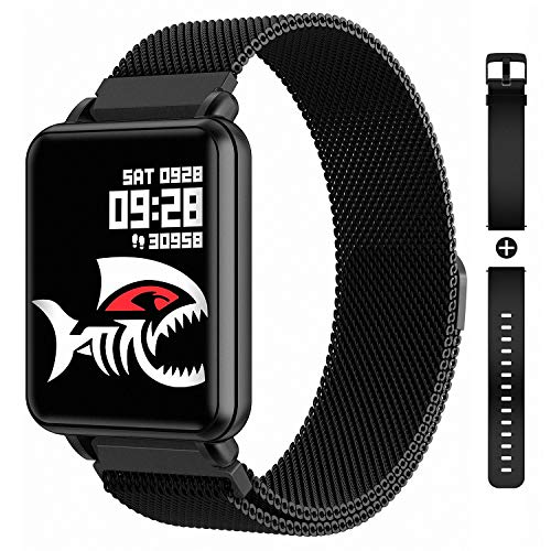 COLMI Smart Watch Full Touchscreen Smartwatch for Women Men, IP68 Waterproof Fitness Tracker Compatible with iPhone Andriod, Bluetooth Pedometer, Heart Rate and Blood Pressure Monitor