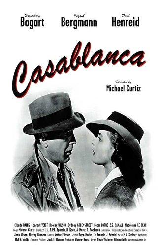 Bergman Movie Poster - Casablanca Poster Movie G 11x17 Humphrey Bogart Ingrid Bergman Paul Henreid Claude Rains