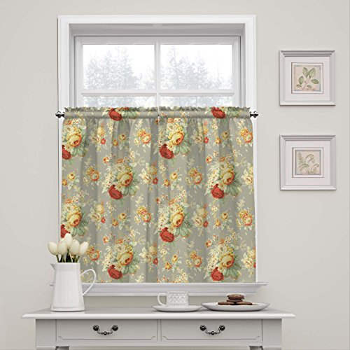 WAVERLY Kitchen Curtains Sanctuary Rose 52