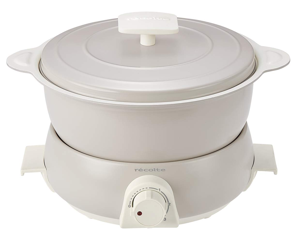 récolte Electric pot Multi Cooker''Pot Duo fete'' (Oyster White) RPD-3W【Japan Domestic Genuine Products】 【Ships from Japan】