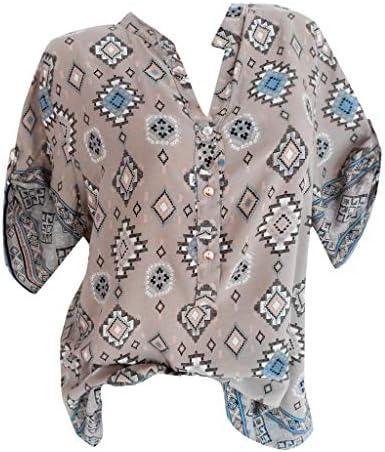 [해외]T Shirt DressWomen Plus Size Casual Button V Neck Print Daily Short Sleeve Tops Shirt Blouse / T Shirt DressWomen Plus Size Casual Button V Neck Print Daily Short Sleeve Tops Shirt Blouse