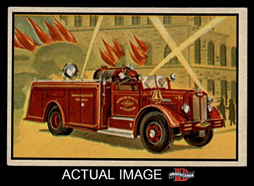1953 Bowman Firefighters # 33 Modern High Pressure Fog Unit (Card) Dean's Cards 6 - EX/MT 1670121