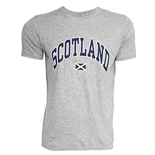 Corta Manga Camiseta Hombre Gris Para De Escocia qtAfgwzw