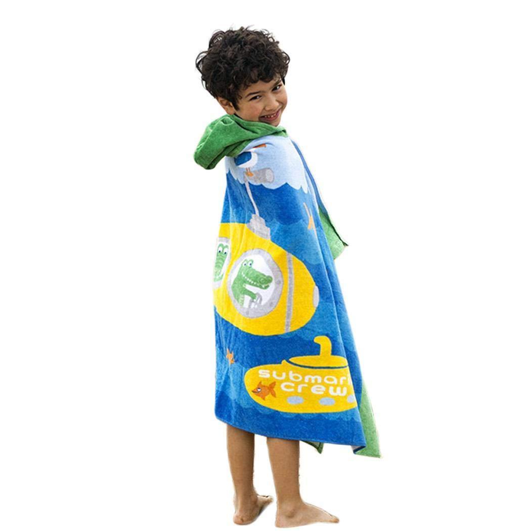 Kindes 29.9 x 50inch Hooded Children Beach Towel Bath Towel Cotton Bath Towels forGirls and Boys