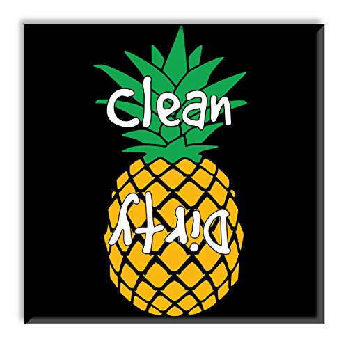 Clean Dirty Dishwasher Magnet Sign Indicator - Pineapple Party Gift - Tropical Kitchen Decor Design