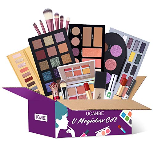 UCANBE Makeup Surprise Mystery Box Gift Set – Exclusive All in One Makeup Set – Include Eyeshadow Palette,Lipstick…