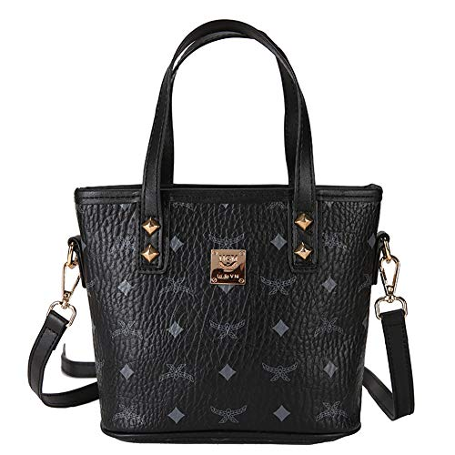 Bag Casual Messenger Satchels Shoulder Bucket Satchels Purse Mini FTSUCQ Black Hobos Womens Handbags q0Y8n4