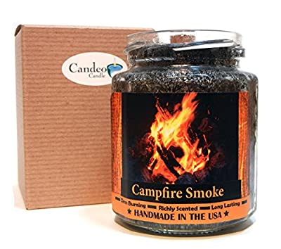 Campfire Smoke Wood Wick Candle, Super Scented Natural Wax Candle, Burning Wood Fireplace Candle