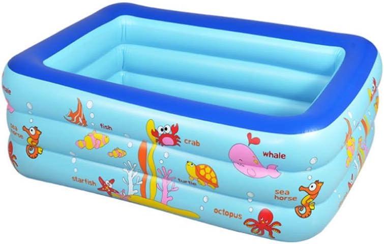 WQ Piscina Infantil Inflable de 2.1 m. Fondo de Burbujas para niños del Mundo Marino.