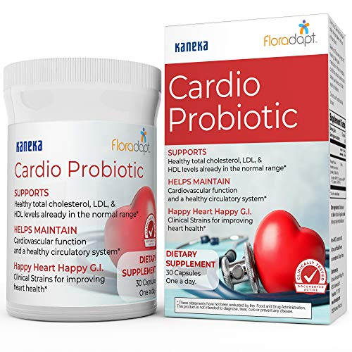 Premium Heart & Cholesterol Support Supplement – Clinically Tested Cardio Probiotic to Support Healthy Cholesterol in…