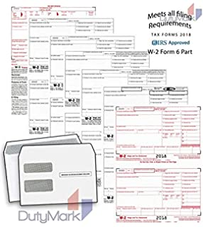 w 2 income set 6 part 2018 laser tax forms and w 3