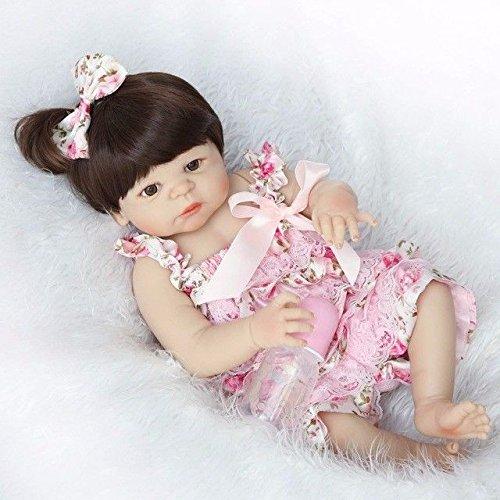 markids 22インチ/ 56 cmフルシリコンReborn人形少女ソフトベビー玩具ギフト   B07B9JWH3Q