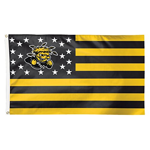 NCAA Wichita State Shockers Stars and Stripes Flag Deluxe, 3 x 5-Foot