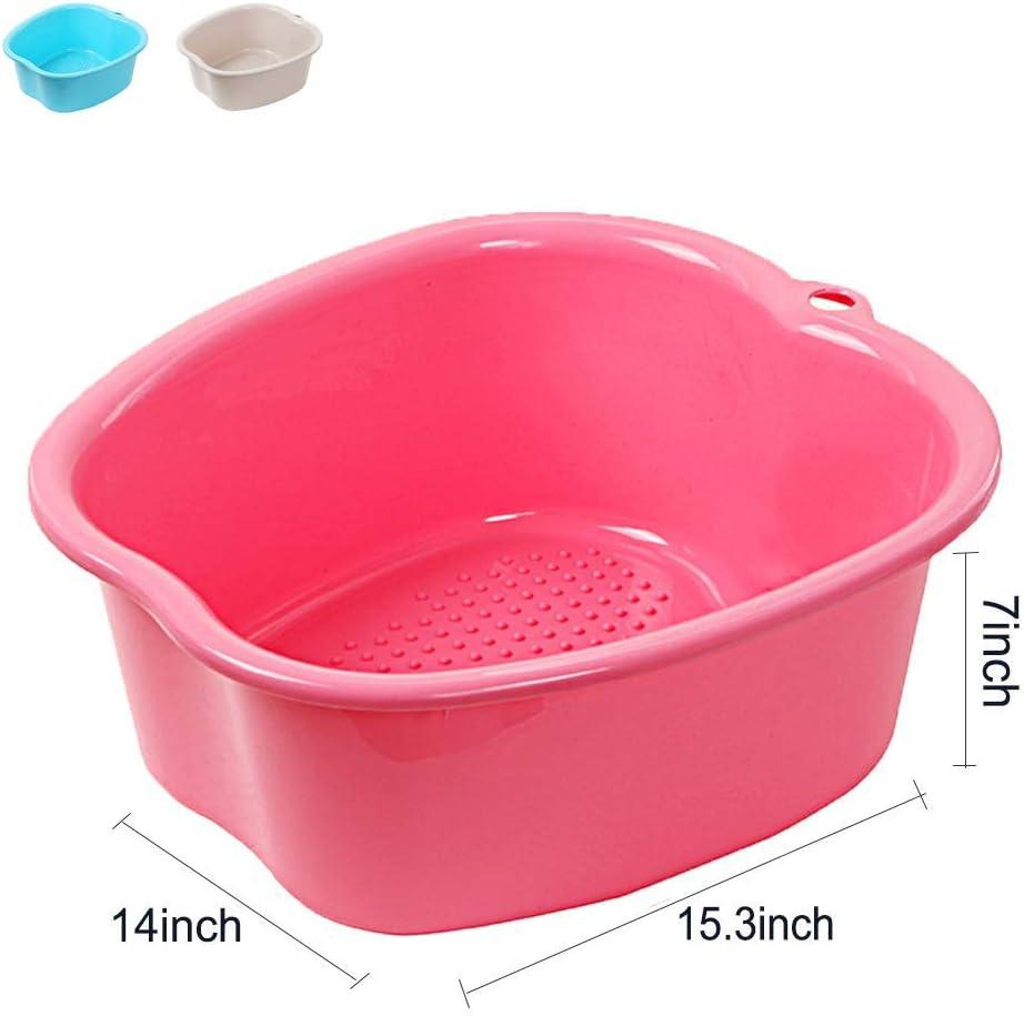 Repose-Pieds en Plastique /épais et Robuste pour p/édicures d/étox et Massage PinkXL Bains de Pieds Appareil Bassin de Spa Grand Bain de Pieds