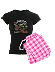 CafePress Women's Dark Pajamas - Chocolate Lab Brain Women's Dark Pajamas