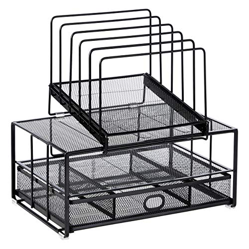 Amazon Basics Single Drawer Mesh Desk File Organizer