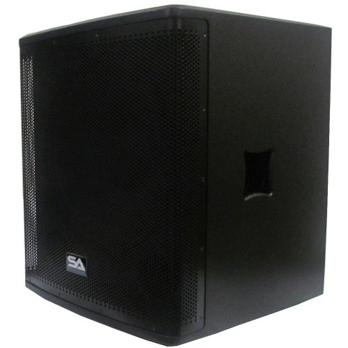 Seismic Audio Magma-118S-PW Powered 18-Inch Pro Audio Subwoofer Cabinet 800-Watts RMS PA/DJ Stage, Studio by Seismic Audio