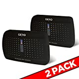 Black Mini Dehumidifier by GERO Rechargeable Renewable Small Moisture Eliminator JR for Bathroom Bedroom Laundry Room Kitchen Cabinet Gun Safe Pantry and More! Prevent Mold Mildew & Musty Odors-2PK