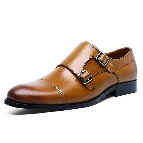 b5d3a187 JUNBOSI Hombre de Gama Alta/Zapatos de Cuero de Primavera Verano - Europa y  Estados Unidos Zapatos de Cuero de Cierre de broches - Zapatos de Cuero para  ...