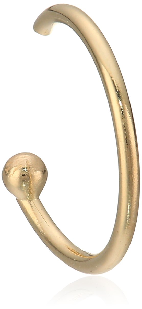Body Candy Women's Solid 14k Yellow Gold Nose Hoop 5/16'' 20 Gauge Body Piercing Screw, One Size by Body Candy