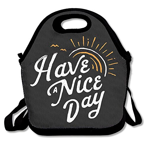 JingleBoo Have A Nice Day Lunch Tote Bag For Men Women Kids (Dry Ice Recipes Halloween)