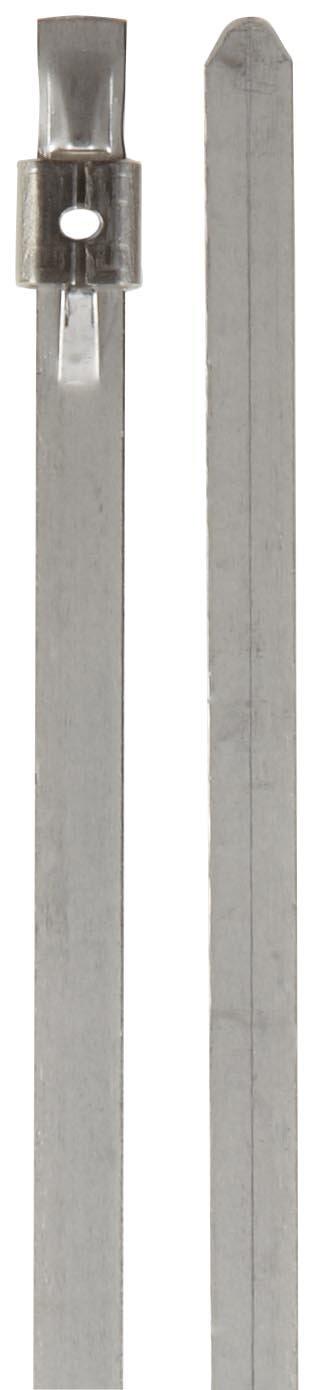 BAND-IT AS4239 Mini Tie-Lok 316 Stainless Steel Cable Tie, 0.177'' Width, 16'' Length, 4'' Maximum Diameter, 100 per Bag
