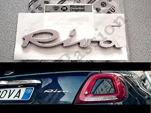 Wappen Schriftzug Fiat 500/Cinquecento Riva hinten Original Logo Emblem
