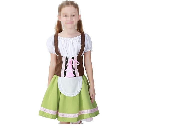 tianxin Disfraz de Oktoberfest para ninos Vestido Tradicional Bavaro Verde Claro
