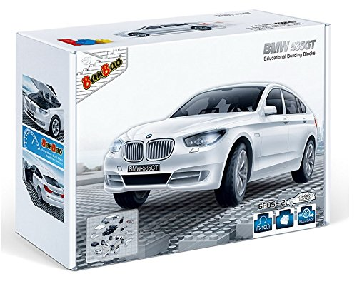 banbao-6805-2-bmw-535gt-white-construction-set-98-pcs-1-28-miniature-toy-bmw-officially-licensed-pro