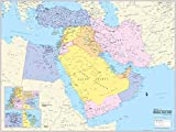 Cool Owl Maps Middle East Wall Map Poster (Paper 40''x30'')