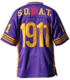 Big Boy Headgear Omega Psi Phi Fraternity Men's Football Jersey 5XL Purple