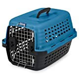 Petmate 41040 Compass Fashion Pets Kennel with Chrome Door, Island Blue/Black