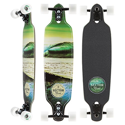 Sector 9 - Verde Mini Fractal Complete 34 Inch Maple Drop Through Longboard for Carving