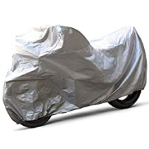 OxGord Solar-Tech Reflective Motorcycle Cover - 100% Sun-Proof - Ready-Fit / Semi Custom - Fits up to 120 Inches